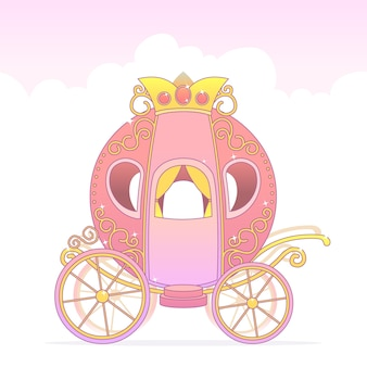 Fairytale carriage with golden crown
