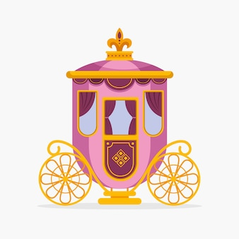 Fairytale carriage with golden wheels