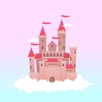 Fairytale castle on clouds