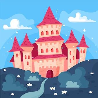 Concetto di castello da favola