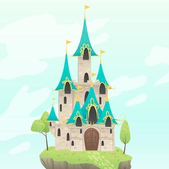 Fairytale castle hand drawn design