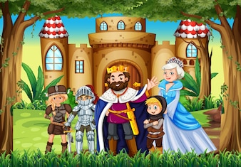 Fairytale characters at the palace