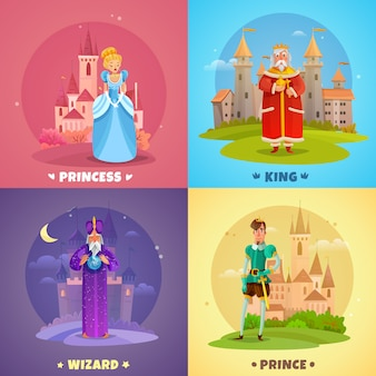 Fairytale characters composition