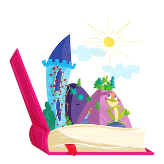 Fairytale concept illustration
