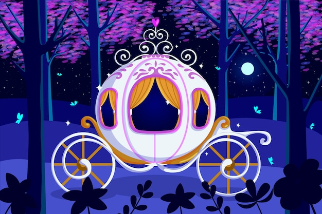 Сказочный концепт волшебной коляски