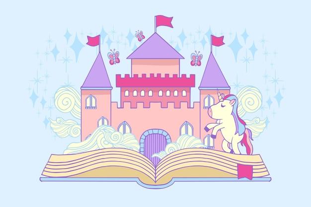 Fairytale concept with castle