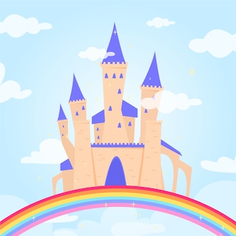 Fairytale concept with castle