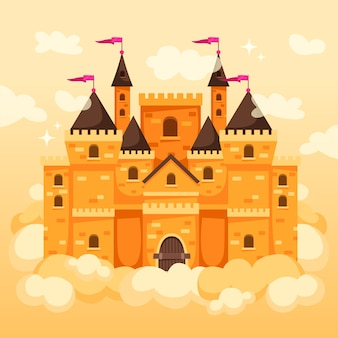 おとぎ話の魔法の城