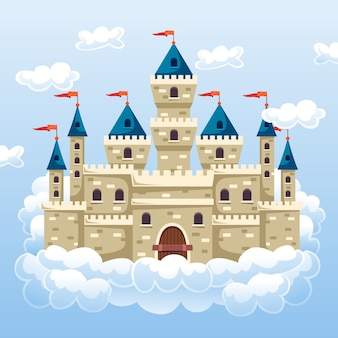 Fairytale magic castle