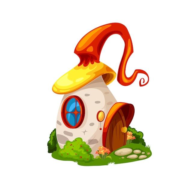 Fairytale magic mushroom house, cartoon building