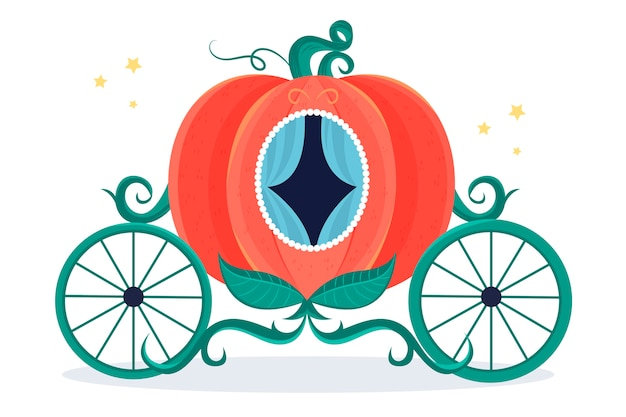 Fairytale pumpkin carriage illustration