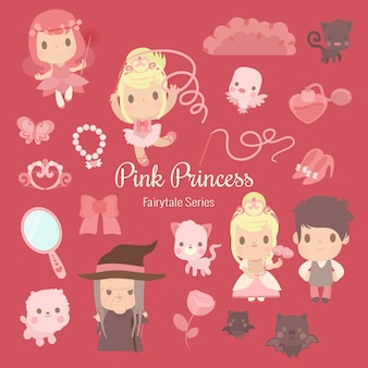 Fairytale series pink princess