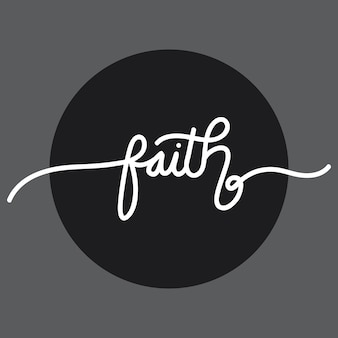 Faith handlettering typography