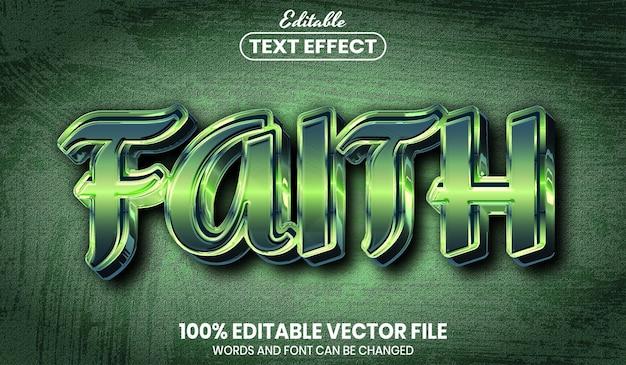 Текст веры, редактируемый текстовый эффект стиля шрифта