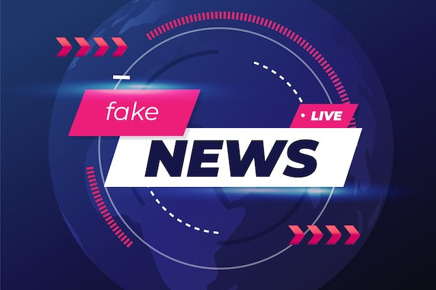 Fake news background design