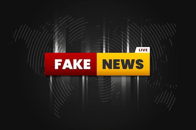 Fake news background design