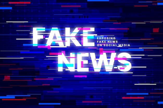 Fake news and glitch effects