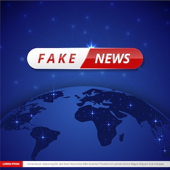 Notizie false in diretta streaming concetto