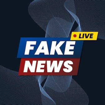 Fake news stream concept