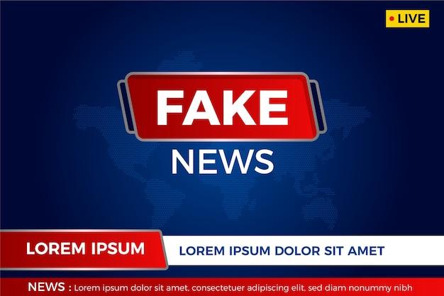 Fake news over world map