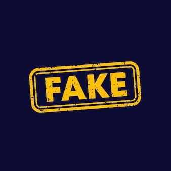 Fake, vector stamp on dark