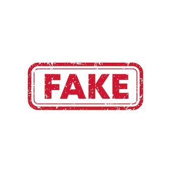 Fake, vector stamp on white