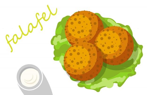 Falafel stuffed pita with vegetables