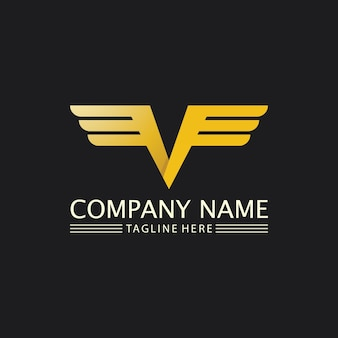 Falcon, eagle logo and wings template vector illustration design icon
