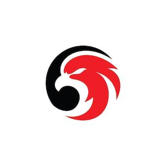 Сокол логотип орел птица голова и круг векторный icon