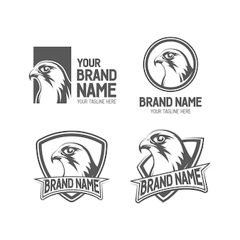 Falcon logo set