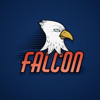 ファルコンのマスコットのロゴ
