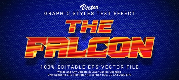 The falcon royal gold text style effect