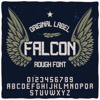 Falcon typeface