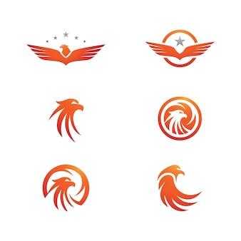 Сокол крыло значок шаблона векторные иллюстрации дизайн