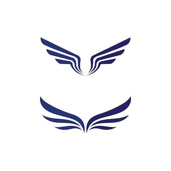 Falcon wings logo template значок дизайн логотипа приложение