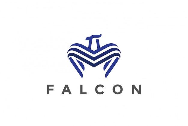 Логотип falcon линейный стиль