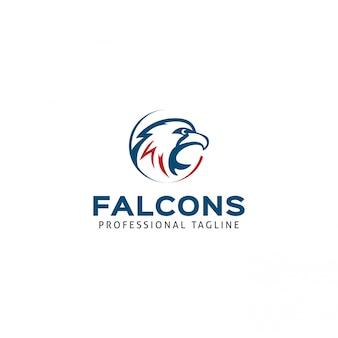 Falcons logo template