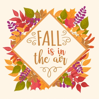 Fall background with leaves