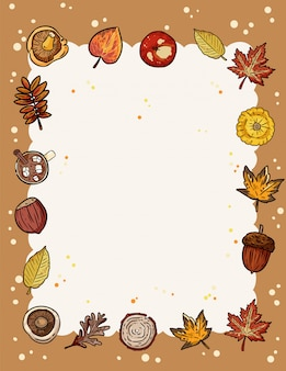 Fall elements frame with copy space