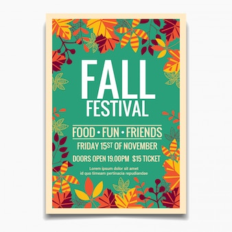 Fall festival poster template