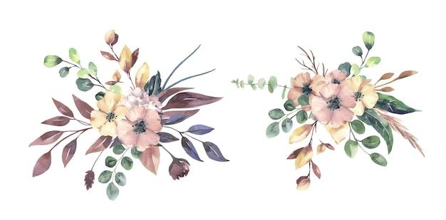 Осенние цветочные букеты