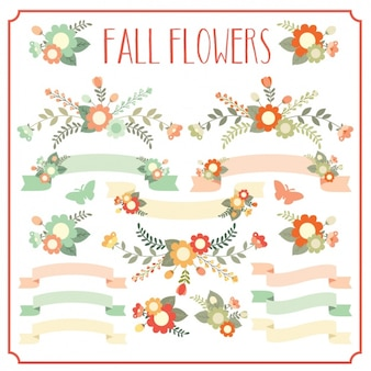 Fall flowers collection