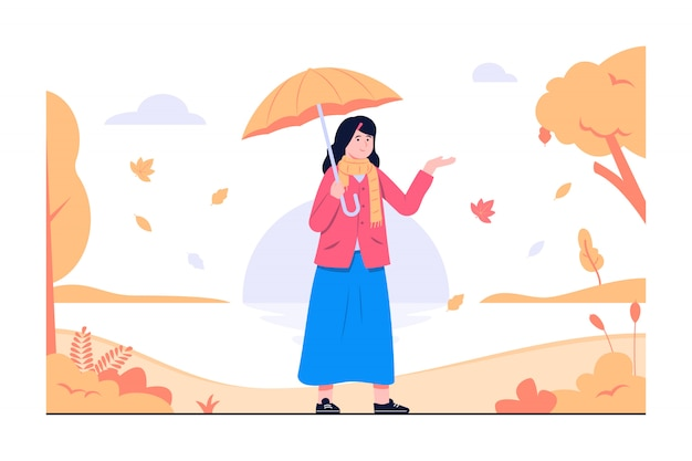 秋が近づいている概念図