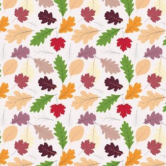 秋の葉パターン