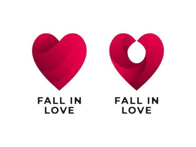 Fall in love logo design concept