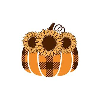秋のピンプキンクリップアート。秋のカボチャの季節の装飾