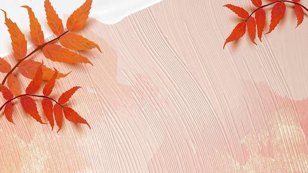 Vettore di sfondo stagione autunnale con foglie di sommacco