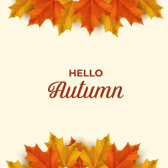 Падающие осенние листья фоновые элементы