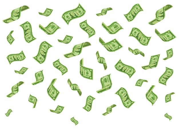 Falling banknotes