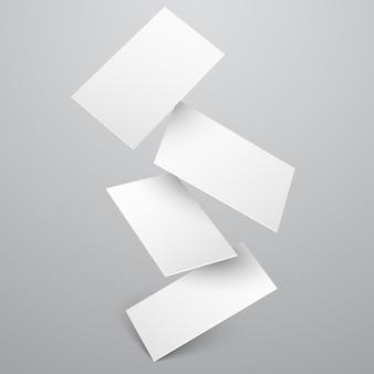 Набор падающих визитных карточек